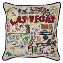 Load image into Gallery viewer, Las Vegas XL Hand-Embroidered Pillow - catstudio