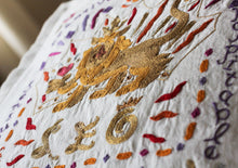 Load image into Gallery viewer, Leo Astrology Hand-Embroidered Pillow - catstudio