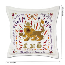 Load image into Gallery viewer, Leo Astrology Hand-Embroidered Pillow Pillow catstudio