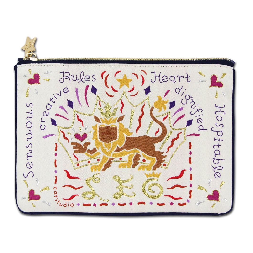 Leo Astrology Zip Pouch - catstudio