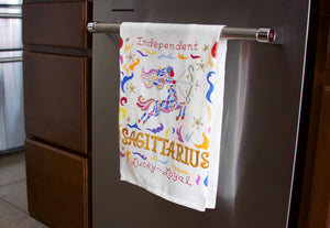 Libra Astrology Dish Towel Dish Towel catstudio