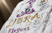 Load image into Gallery viewer, Libra Astrology Hand-Embroidered Pillow - catstudio