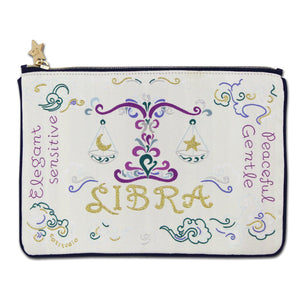 Libra Astrology Zip Pouch - catstudio