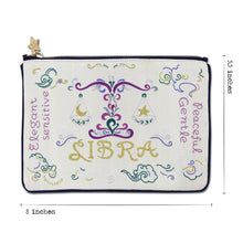 Load image into Gallery viewer, Libra Astrology Zip Pouch Pouch catstudio