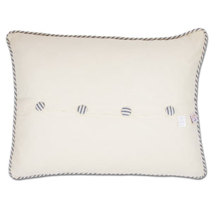 Long Island Hand-Embroidered Pillow - catstudio