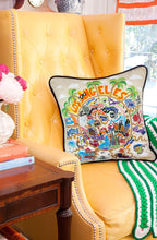 Load image into Gallery viewer, Los Angeles Hand-Embroidered Pillow - catstudio