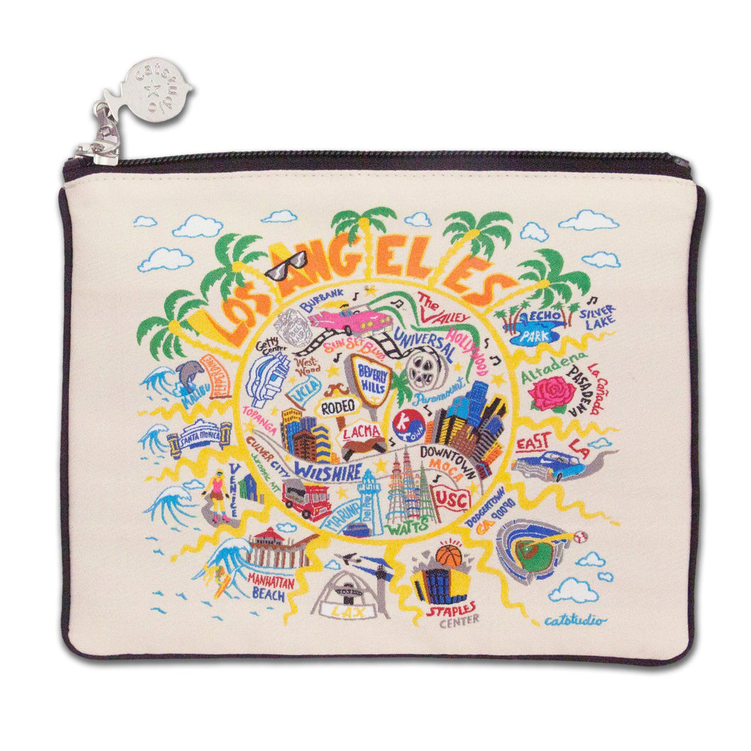 Los Angeles Zip Pouch - Natural - catstudio