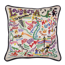 Load image into Gallery viewer, Louisiana Hand-Embroidered Pillow Pillow catstudio