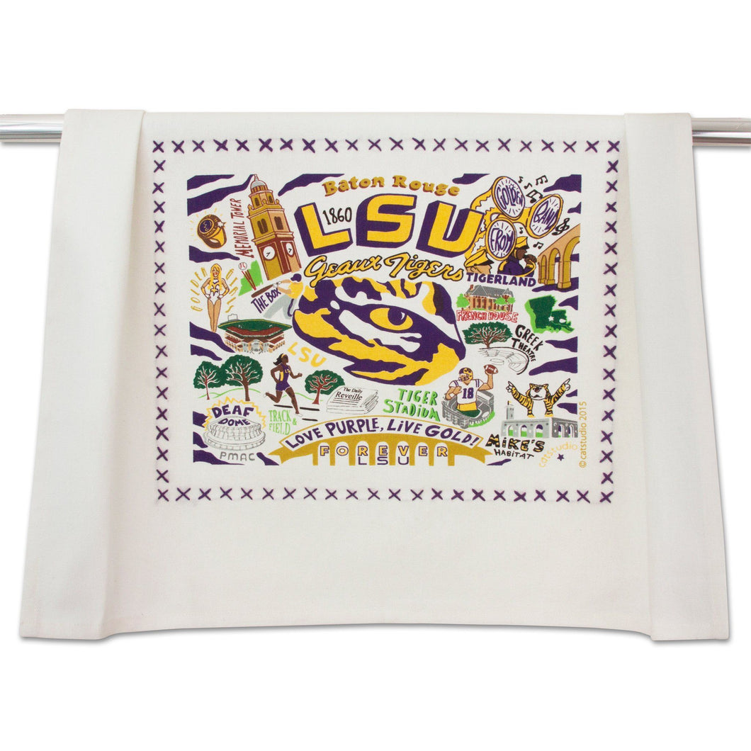 Louisiana State University (LSU) Collegiate Dish Towel - catstudio