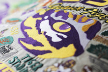 Load image into Gallery viewer, Louisiana State University (LSU) Collegiate Embroidered Pillow - catstudio