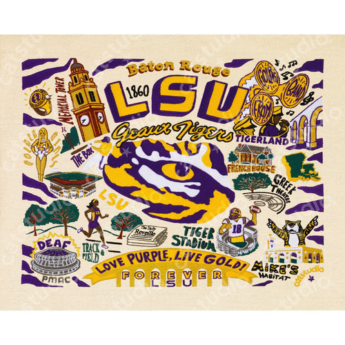 Louisiana State University (LSU) Collegiate Fine Art Print - catstudio