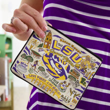 Load image into Gallery viewer, Louisiana State University (LSU) Collegiate Zip Pouch - catstudio