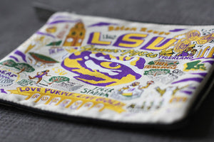Louisiana State University (LSU) Collegiate Zip Pouch - catstudio