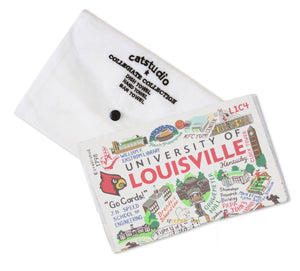 Louisville, University of Collegiate Dish Towel - catstudio