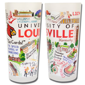 Louisville, University of Collegiate Drinking Glass - catstudio