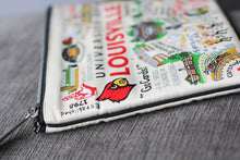 Load image into Gallery viewer, Louisville, University of Collegiate Zip Pouch - catstudio