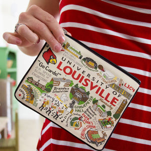 Louisville, University of Collegiate Zip Pouch - catstudio