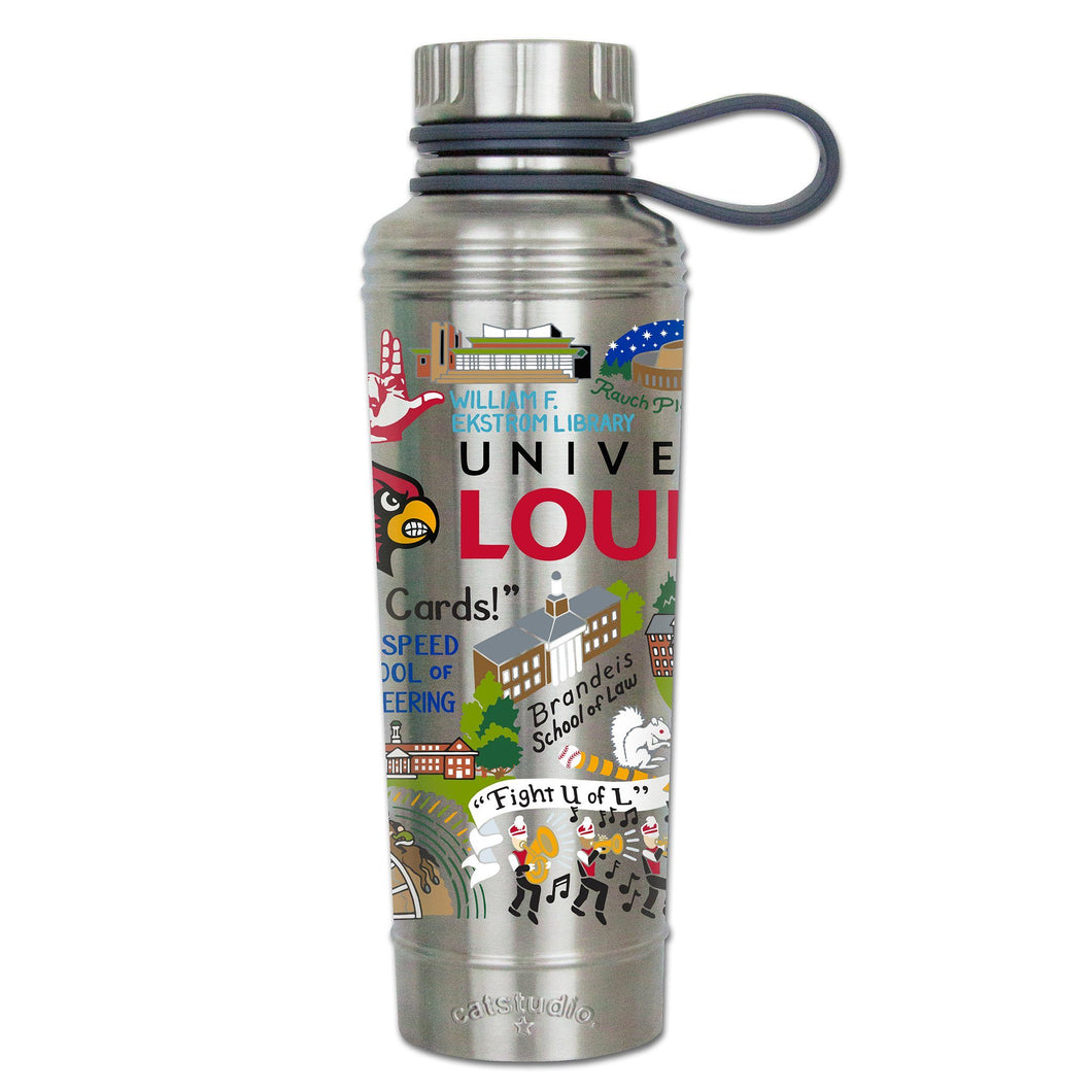 Louisville, University of Collegiate Thermal Bottle - catstudio