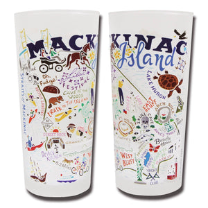 Mackinac Island Drinking Glass - catstudio