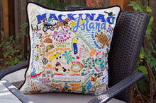 Load image into Gallery viewer, Mackinac Island Hand-Embroidered Pillow - catstudio