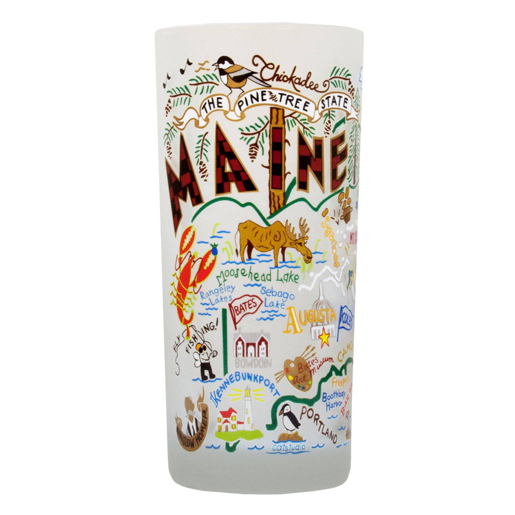 Maine Drinking Glass - catstudio