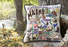 Load image into Gallery viewer, Maine Hand-Embroidered Pillow - catstudio