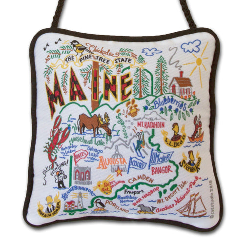Maine Mini Pillow Ornament - catstudio