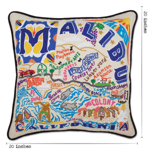 Malibu Hand-Embroidered Pillow - catstudio