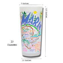 Load image into Gallery viewer, Marin County Drinking Glass - catstudio