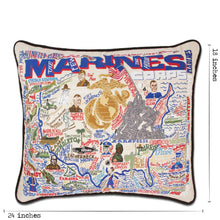 Load image into Gallery viewer, Marines Embroidered Pillow - catstudio