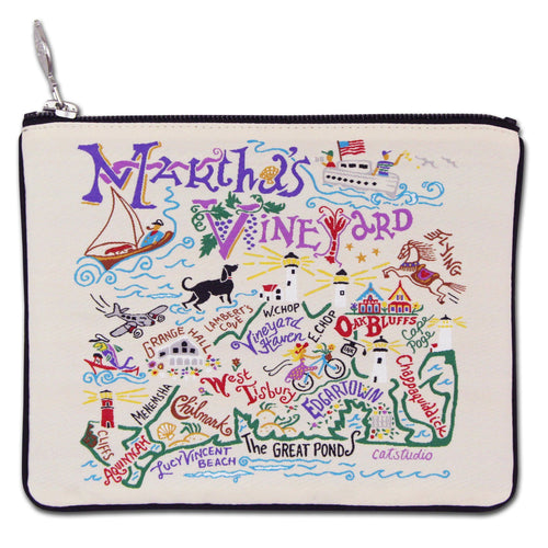 Martha's Vineyard Zip Pouch - Coming Soon! - catstudio