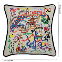 Load image into Gallery viewer, Maryland Hand-Embroidered Pillow - catstudio