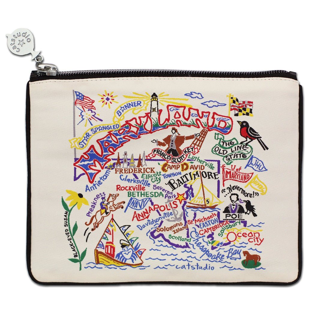 Maryland Zip Pouch - Natural Pouch catstudio