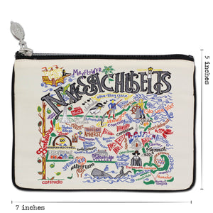 Massachusetts Zip Pouch - Natural - catstudio