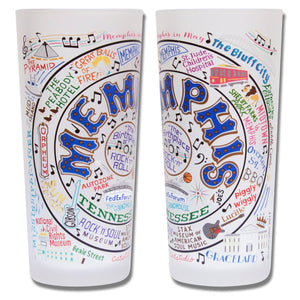 Memphis Drinking Glass - catstudio