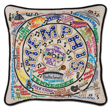 Load image into Gallery viewer, Memphis Hand-Embroidered Pillow - catstudio