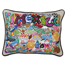 Load image into Gallery viewer, Mexico Hand-Embroidered Pillow Pillow catstudio