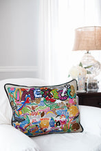Load image into Gallery viewer, Mexico Hand-Embroidered Pillow - catstudio