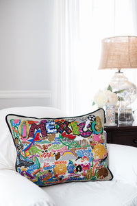 Mexico Hand-Embroidered Pillow - catstudio