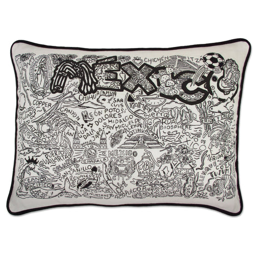 Mexico Hand-Guided Machine Pillow - catstudio