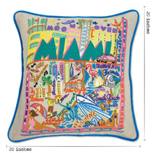 Load image into Gallery viewer, Miami Hand-Embroidered Pillow - catstudio