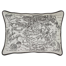 Load image into Gallery viewer, Michigan Hand-Guided Machine Pillow Pillow catstudio