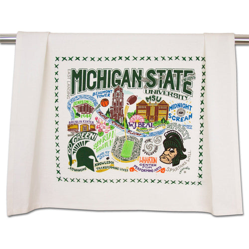 Michigan State University Collegiate Dish Towel Dish Towel catstudio
