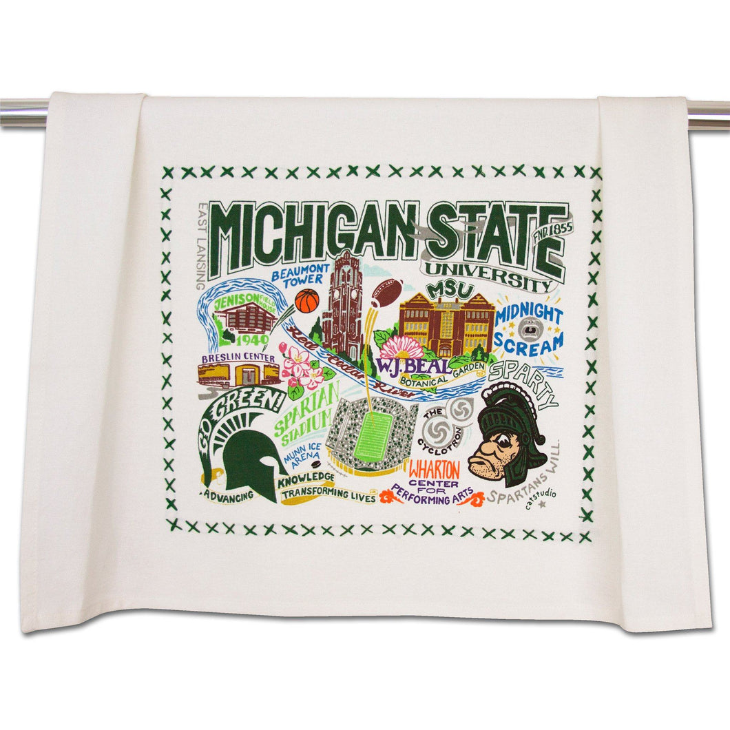 Michigan State University Collegiate Dish Towel - catstudio