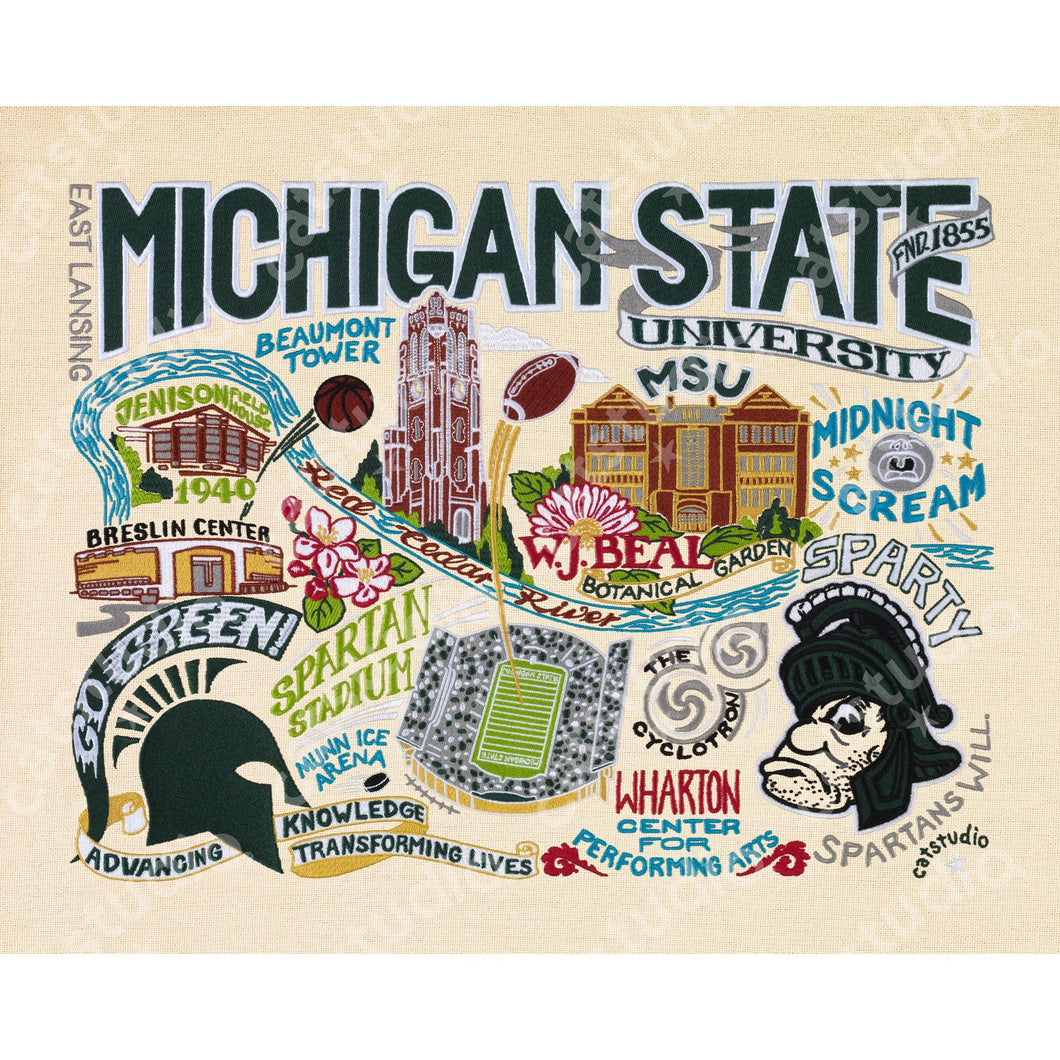 Michigan State University Collegiate Fine Art Print - catstudio
