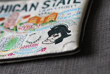 Load image into Gallery viewer, Michigan State University Collegiate Zip Pouch - catstudio