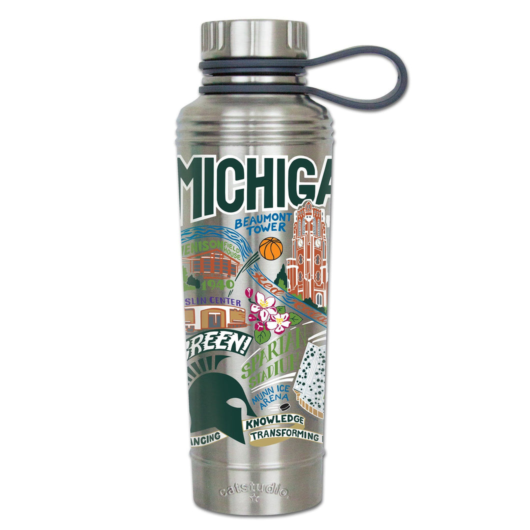 Michigan State University Collegiate Thermal Bottle - catstudio