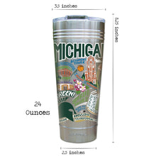 Load image into Gallery viewer, Michigan State University Collegiate Thermal Tumbler (Set of 4) - PREORDER Thermal Tumbler catstudio