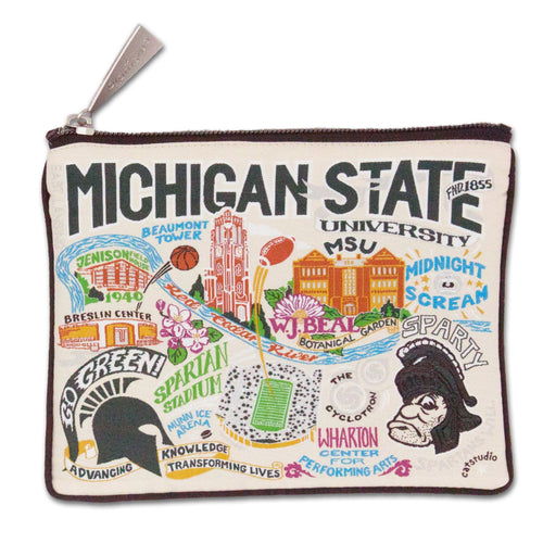 Michigan State University Collegiate Zip Pouch - catstudio