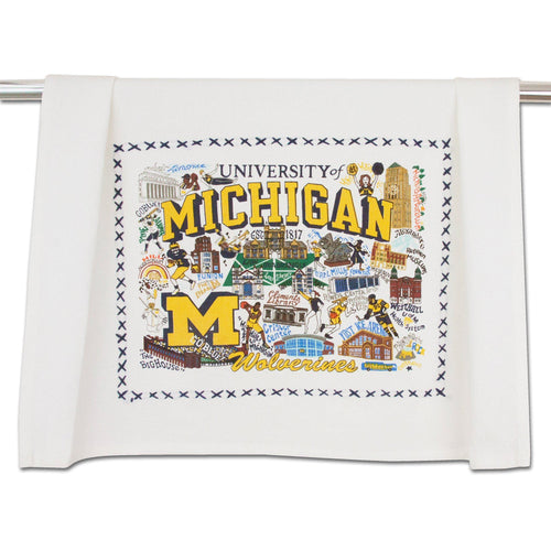 Michigan, University of Collegiate Dish Towel - catstudio